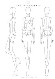 Costume Drawing Template Female Figure Template Free Download Costume Design Template Female