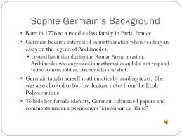 presented by katie neville underrepresented mathematician sophie  2 sophie