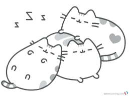 Coloring Pages Sleeping Free Printable Pusheen Christmas