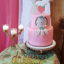 Dream Catcher Baby Shower Cake Boho Chic Dream Catcher Baby Shower Dream Big Little One The 16
