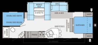 jayco 5th wheel floor plans awesome fifth wheel bunkhouse floor plans best rv camper floor plans