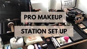 pro makeup artist station set up