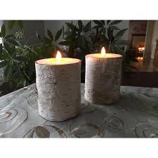Natural White Birch Pillar Candle - 7