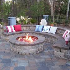 Beautiful Concrete Patio Designs With Fire Pit Eclectic Stamped Design Ideas Pictures Remodel And Creativity