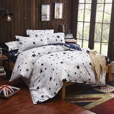 blue white moon stars bedding sets twin full queen king size kids bed linen duvet cover bed sheet pillowcase edredon salw18435