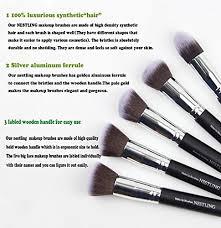 amazon nestling makeup brushes premium cosmetics brush set synthetic kabuki makeup brush foundation blending blush eyeliner face powder brush