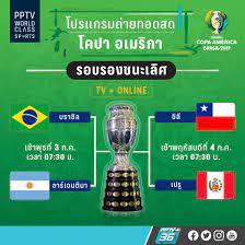 โปรแกรมฟุตบอล โคปา อเมริกา 2019 ! รอบรองชนะเลิศ วันที่ 3 - 4 ก.ค. 62 PPTV  ยิงสด : PPTVHD36