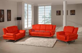 Red Leather Living Room Sets Modern Line Furniture Commercial Furniture Custom Made