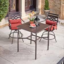 alluring 3 piece outdoor bar set 12 81tggubxdtl sl1500