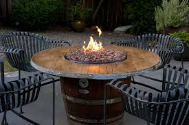 fire pit dining tables fire pit dining table barrel table design outdoor fire pit