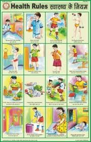 Health And Hygiene Charts Health Rules For Health