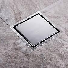 stainless steel bathroom 11cm floor waste drain chrome shower drain cover