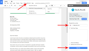 Document Fax How To Send A Fax From Google Docs Fax Plus Help Center