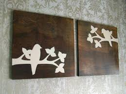 rustic bird wood wall decor art set 24x24 by elwoodworks on etsy 180 00 on rustic white wood wall art with set of 4 colorful clipboard art gallery signs handpainted