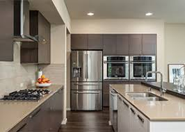 Contemporary kitchen cabinet Walnut Differentsizecabinetsincontemporarykitchen Modern Rta Cabinets How Tall Should Your Kitchen Cabinets Be