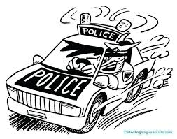 Police Car Coloring Pages Police Car Coloring Page Free Printable