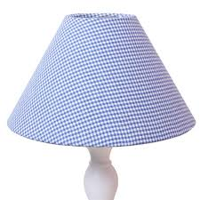 blue gingham lampshade