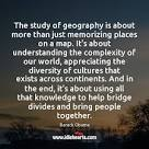 Image result for barack obama geography quote
