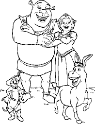 Small Picture Shrek Coloring Pages Printable Activities