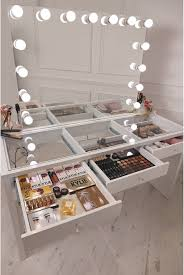 Beauty Station With Lights Diy Vanity Mirror With Lights For Bathroom And Makeup