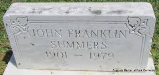 SUMMERS, JOHN FRANKLIN - Woodruff County, Arkansas   JOHN FRANKLIN SUMMERS  - Arkansas Gravestone Photos