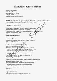 Landscaping Resumes Free Resume Example And Writing Download