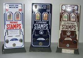 Vintage Stamp Vending Machine Unique Postage Stamp Dispenser Brass Roll MikeNguyen
