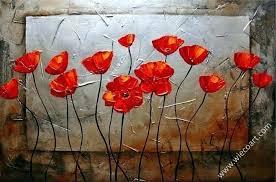 metal poppy wall art flower