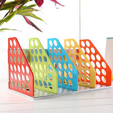 Wholesale Magazine Holders New DIY Plastic Bookend Office File Document Tray Holder 60