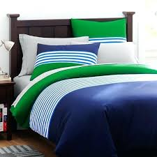 stripe duvet cover sham navy green blue and sets
