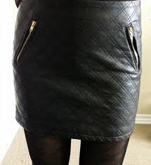 My Superficial Endeavors: Express (Minus the) Leather Quilted Mini ... & The tights actually have exactly the same size quilt pattern as the skirt Adamdwight.com