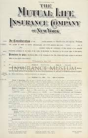 mutual life insurance company of new york 1909 05 06 policies found in the musuem of insurance