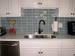 simple glass tile kitchen backsplash