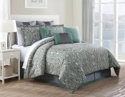 100 Cotton Queen Comforter Sets 9 Piece Chateau Set 7 Luxe 4 14 ... & 100 Cotton Queen Comforter Sets 9 Piece Clara Set 2 Adamdwight.com