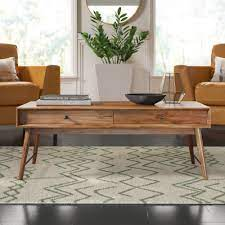 Storage is an important aspect for the design of the cube, a coffee table that transforms with ease to accommodate more guests. Mercury Row Andersen Solid Wood Coffee Table With Storage Reviews Wayfair