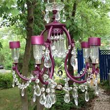 porch diy solar powered repurposed chandelier how romantic for an outdoor wedding or party replace the bulbs with dollar solar outdoor lights