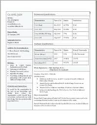 Cover Letter For Chartered Accountant Sample Cover Letter For Chartered Accountant Fresher Over And Resume