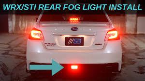 Wrx F1 Fog Light 2015 2020 Wrx Sti Rear Fog Light Install Subie Bros Plug And Play Harness Dual Intensity F1