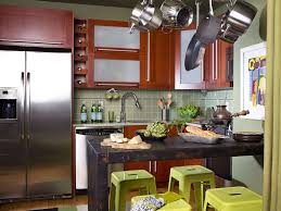 interesting rustic kitchen small space design ideas with rectangle black wood kitchen island and l shape small wood kitchen cabinet