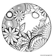 Fauna and flora are also represented, and you can even enjoy magnificent drawings of landscapes that only wait some colors to become absolutely stunning. Mandala Flowers Vegetation Nature Coloring Pages Printable