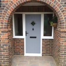 front doors with side windowsComposite door with sidelights installed in Withdean in Hove