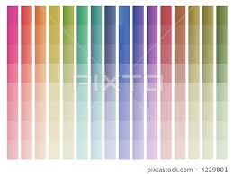 Gradation Chart Chart Color Chart Stock Illustration