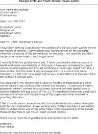 Cover Letter Examples For Youth Worker Adriangatton Com
