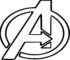 The avengers logo coloring pages - ColoringStar