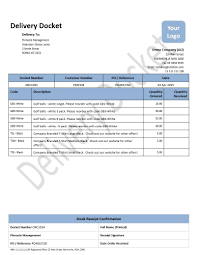 Delivery Docket Xero Template Delivery Docket Virtual Templates 1