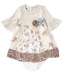 Bonnie Jean Baby Girls 12 24 Months Mixed Media Empire Waist Dress