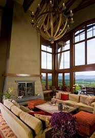 view in gallery inviting living room with high
