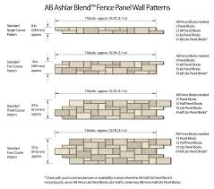 Cmu Block Coursing Chart Concrete Block Fence How To Build Patterned Fence Panels