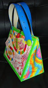 Purse Design Games Upcycled Candy Land Board Game Purse Novelty Gift Made From