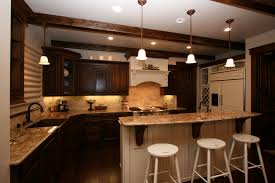 Kitchen : Granite Countertops With Kitchen Flooring Backsplash Benches  Worktops Cabinets With Over Quartz Slab Color With Two Tone Kitchen Cabinets  Grey And ...